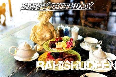 Happy Birthday Rahishudeen Cake Image