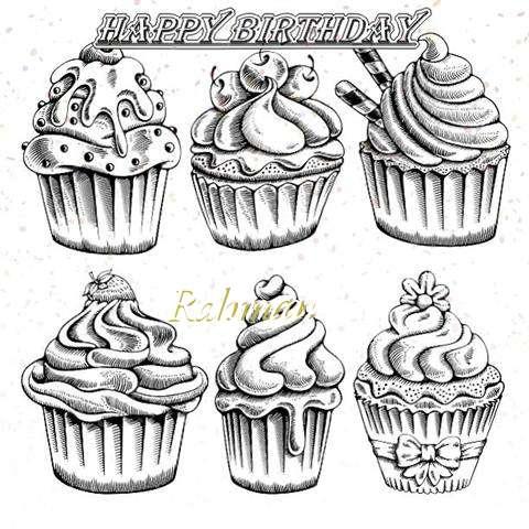 Happy Birthday Cake for Rahman