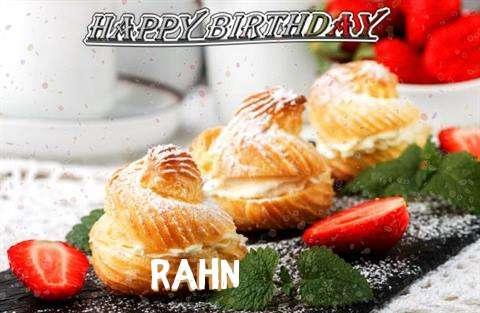 Happy Birthday Rahn Cake Image