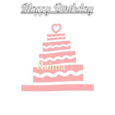 Happy Birthday Raima Cake Image