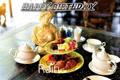 Happy Birthday Rain Cake Image