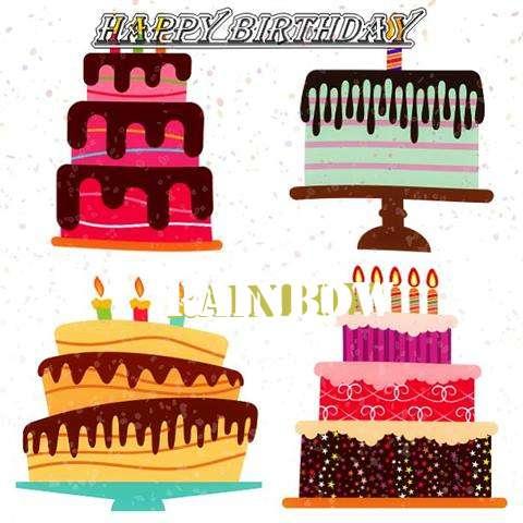 Happy Birthday Rainbow Cake Image