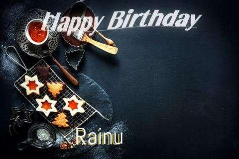 Happy Birthday Rainu Cake Image