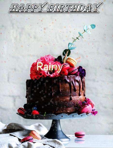 Happy Birthday Rainy Cake Image