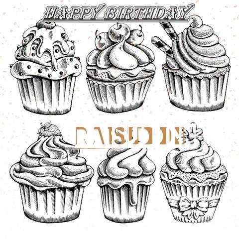 Happy Birthday Cake for Raisuddin