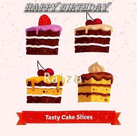 Happy Birthday Raiza Cake Image