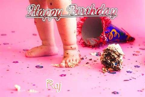 Happy Birthday Raj Cake Image