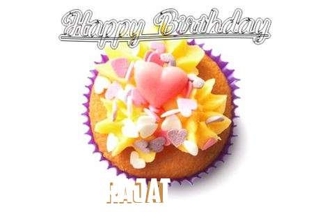 Happy Birthday Rajat Cake Image