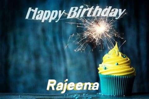 Happy Birthday Rajeena Cake Image