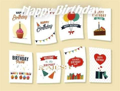Happy Birthday Cake for Rajesh