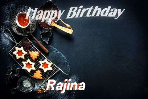 Happy Birthday Rajina Cake Image