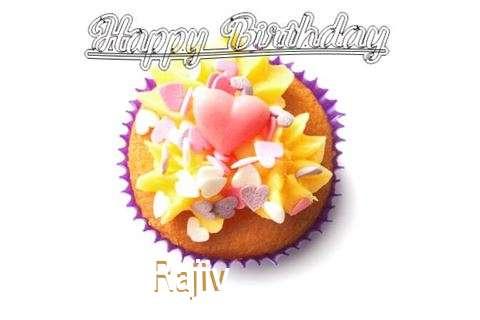 Happy Birthday Rajiv Cake Image