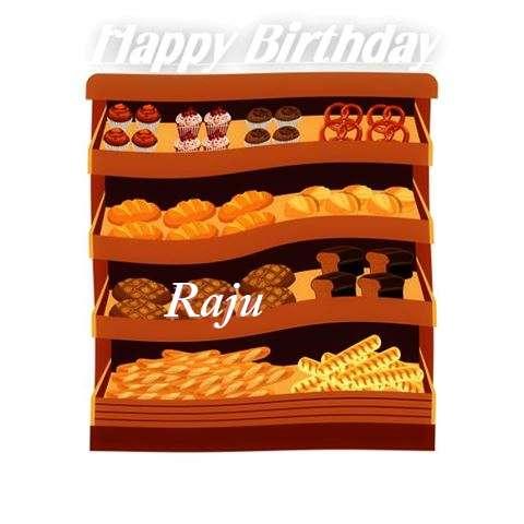 Happy Birthday Cake for Raju