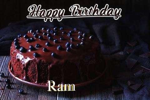 Happy Birthday Cake for Ram
