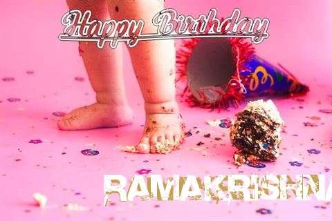 Happy Birthday Ramakrishna Cake Image