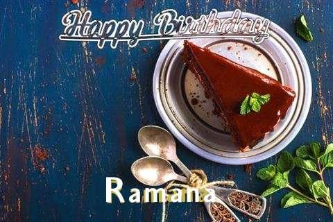 Happy Birthday Ramana Cake Image