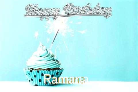 Happy Birthday Cake for Ramana