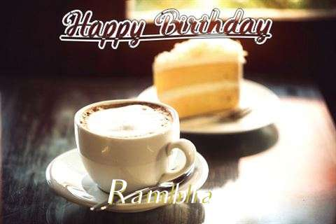 Birthday Wishes with Images of Rambha