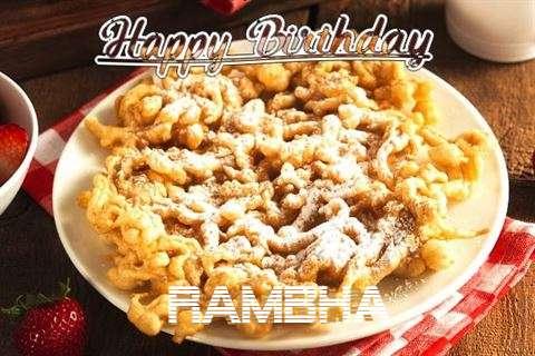 Happy Birthday Rambha Cake Image