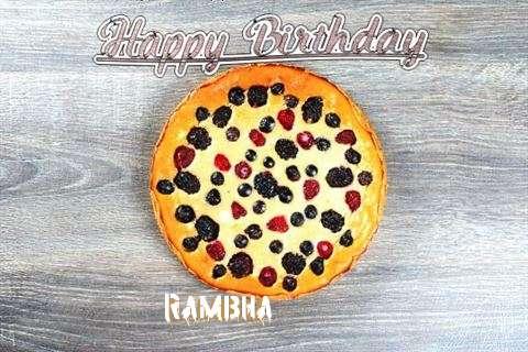Happy Birthday Cake for Rambha