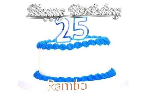 Happy Birthday Rambo Cake Image