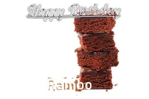Rambo Birthday Celebration