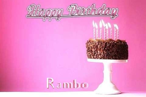 Happy Birthday Cake for Rambo