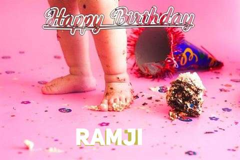 Happy Birthday Ramji Cake Image