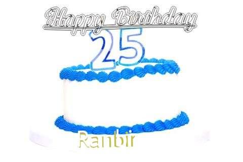Happy Birthday Ranbir Cake Image