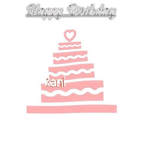 Happy Birthday Rani Cake Image