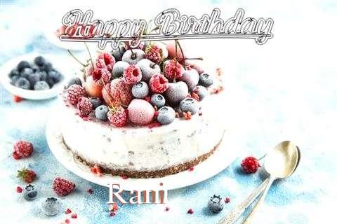 Happy Birthday Cake for Rani