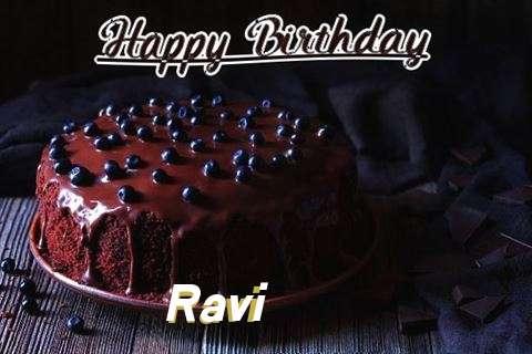 Happy Birthday Cake for Ravi
