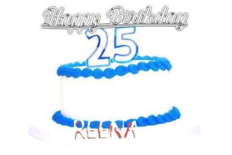 Happy Birthday Reena Cake Image