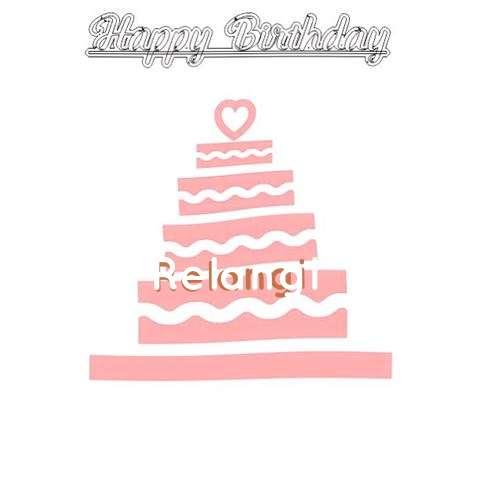 Happy Birthday Relangi Cake Image