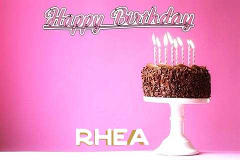 Happy Birthday Cake for Rhea