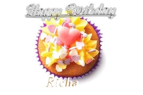 Happy Birthday Richa Cake Image