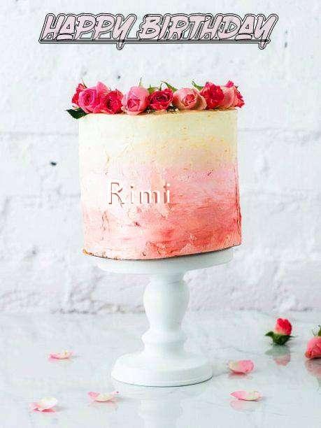 Happy Birthday Cake for Rimi