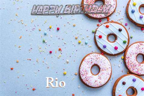 Happy Birthday Rio Cake Image