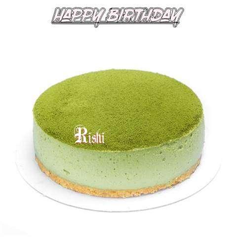 Happy Birthday Cake for Rishi
