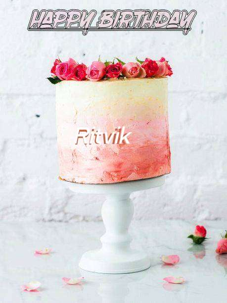 Happy Birthday Cake for Ritvik