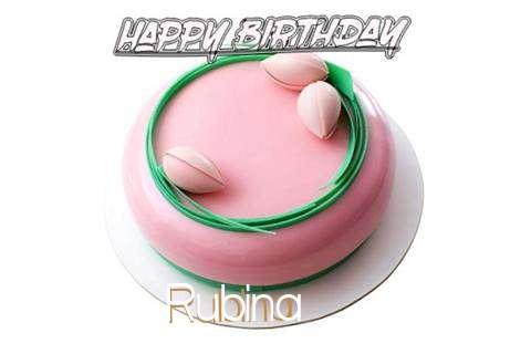 Happy Birthday Cake for Rubina
