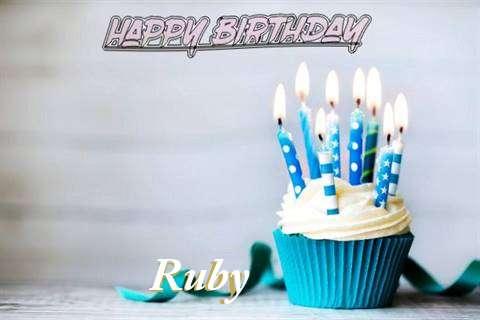 Happy Birthday Ruby Cake Image