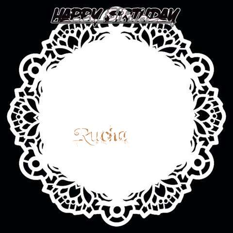 Happy Birthday Rucha Cake Image