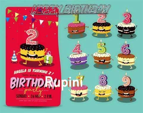Happy Birthday Rupini Cake Image