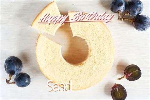 Happy Birthday Saad Cake Image