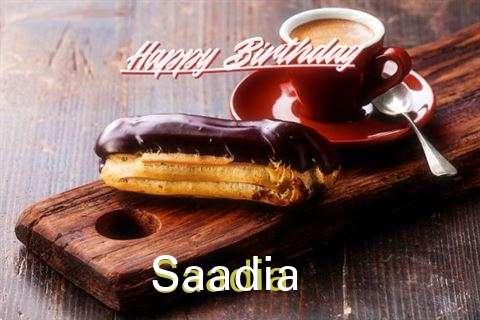 Happy Birthday Saadia Cake Image