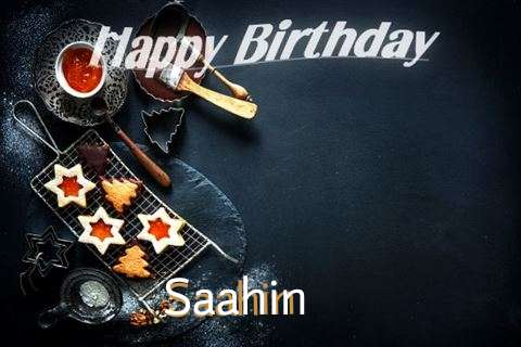 Happy Birthday Saahin Cake Image