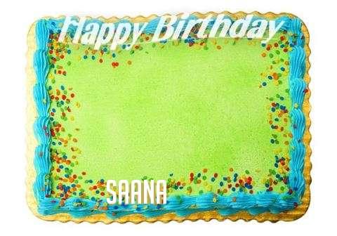 Happy Birthday Saana Cake Image