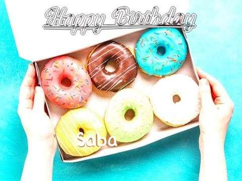 Happy Birthday Saba Cake Image