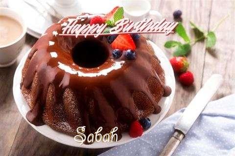 Happy Birthday Sabah Cake Image